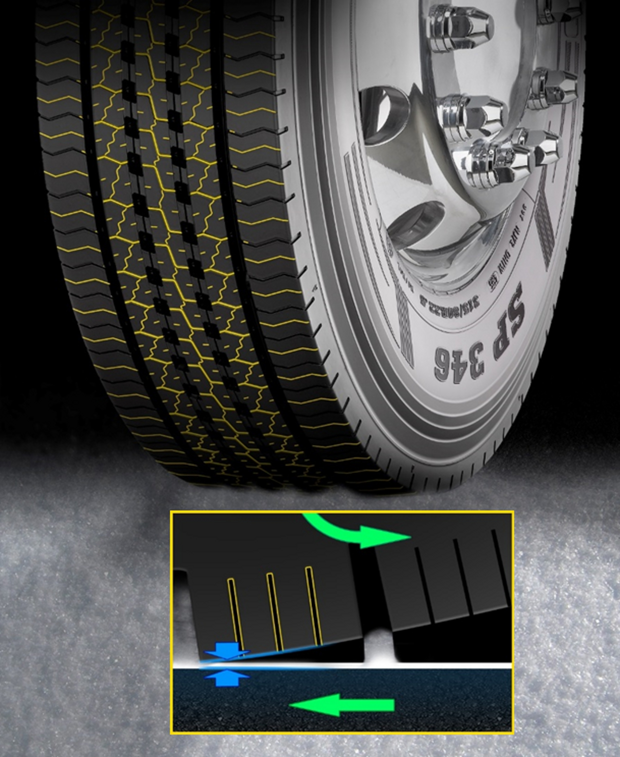 Dunlop SP346 Sipes High Wet Grip and Winter Mobility