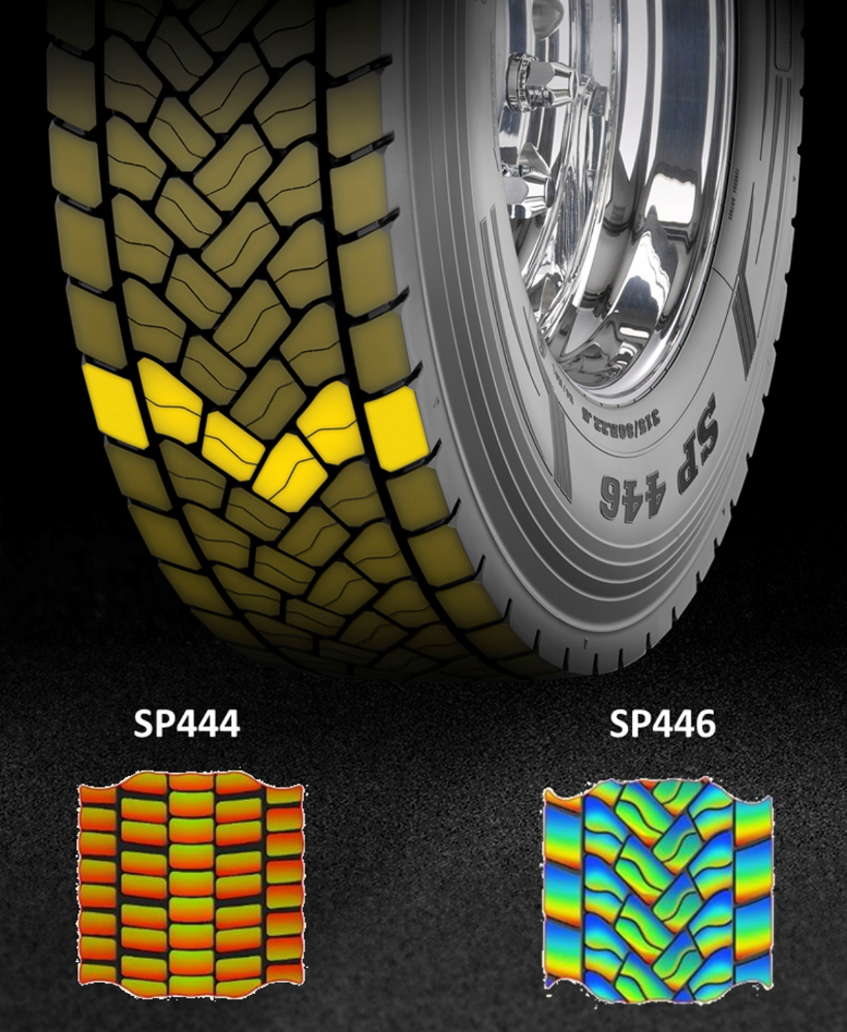 Dunlop SP446 Directional Tread Pattern High Mileage and Traction
