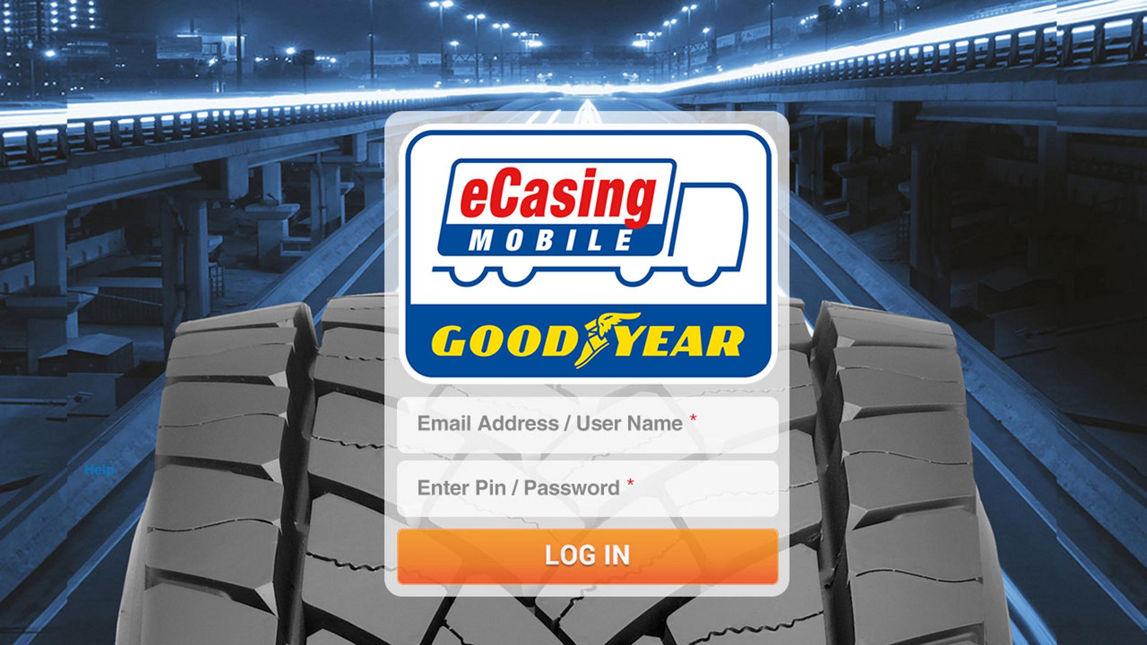Goodyear eCasing Mobile App Login iPad